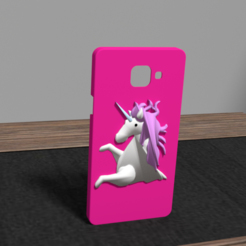 Download 3D printing templates Samsung A5 unicorn shell, Ukiyograph