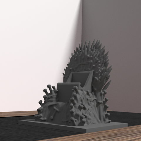 throne 1.png Download OBJ file Support Game of throne - iphone & android • Object to 3D print, Ukiyograph