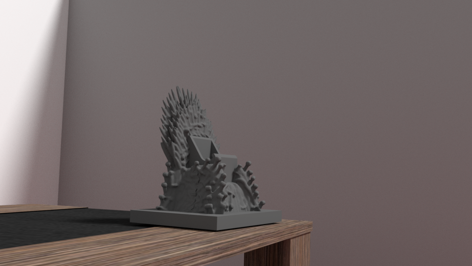 throne 3.png Download OBJ file Support Game of throne - iphone & android • Object to 3D print, Ukiyograph