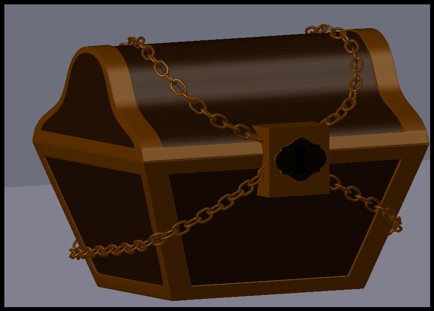 trésor 1.PNG Download OBJ file Treasure chest • 3D print template, Ukiyograph