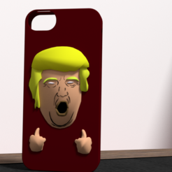 3D printer files Trump fuck yeah iphone 5 case, Ukiyograph