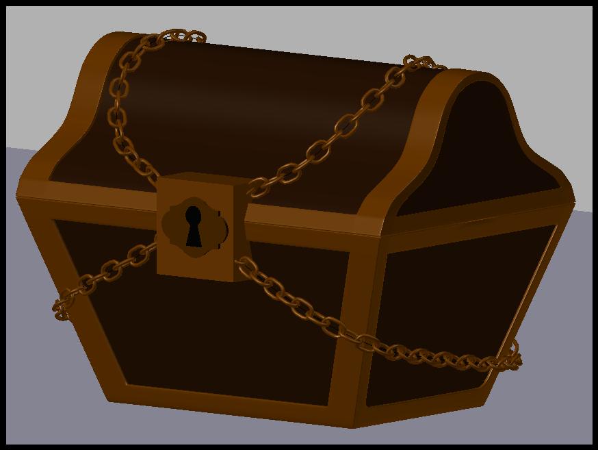 trésor 2.PNG Download OBJ file Treasure chest • 3D print template, Ukiyograph