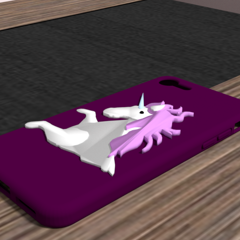 licorne 1.png Download OBJ file iphone 6 plus unicorn shell • Object to 3D print, Ukiyograph