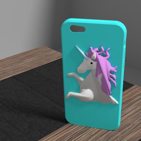 licorne3.png Download OBJ file Iphone 6 unicorn shell • 3D printable model, Ukiyograph