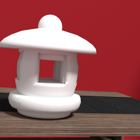 lanterne ext2.png Download STL file Outdoor Japanese lantern • 3D print object, 3Dgraph