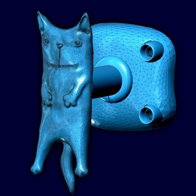 "mebru1.jpg Download STL file Furniture handle ""Spring smile"" • 3D printable template, 10mll"