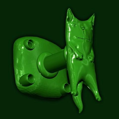 "mebru2.jpg Download STL file Furniture handle ""Spring smile"" • 3D printable template, 10mll"