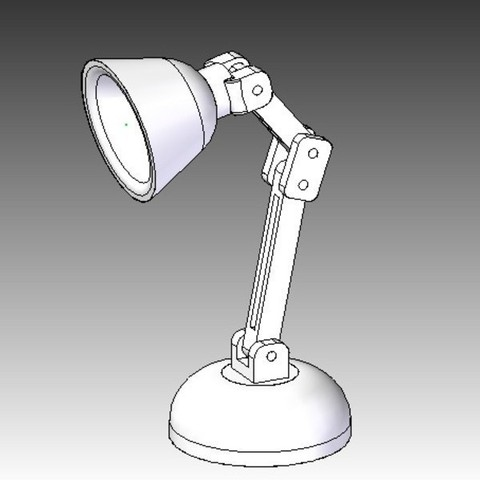 Free Mini LED Lamp 3D model, infrafox