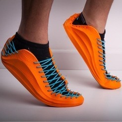 Download free STL file Sneaker with FILAFLEX Elastic filament • Design to 3D print, Ignacio