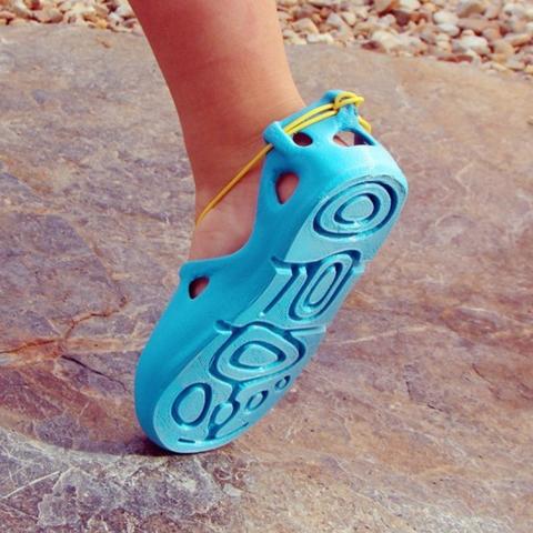 7585e5903f5 ... Ignacio Modelos 3D gratis Lace-Up Sandalias 3D (Para Niños)