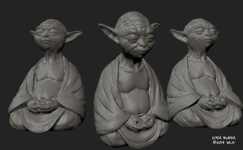 YODA-BUDDA.jpg Download STL file YodaBuddha • 3D printer model, Zandoria