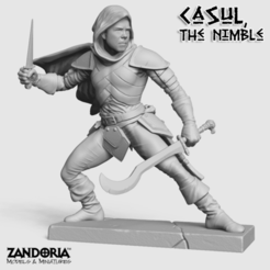 Download 3D printer files Casul the Nimble, Zandoria