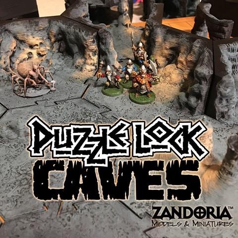 Modèle 3D Grottes PuzzleLock, Zandoria