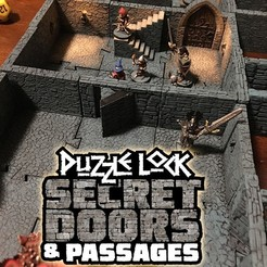 SecretDoors_Promo1.jpg Download STL file PuzzleLock Secret Doors & Passages • 3D print design, Zandoria