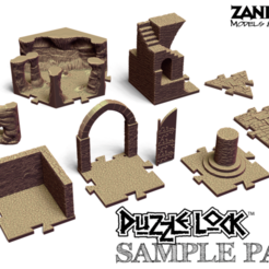 SamplePack.png Download free STL file PuzzleLock Sample Pack • 3D print model, Zandoria