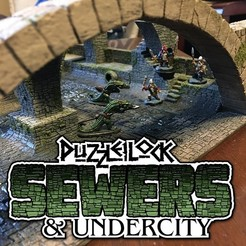 Download STL files PuzzleLock Sewers & Undercity, Zandoria