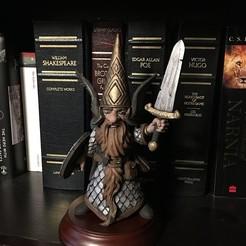 Photo Aug 03, 7 03 30 PM.jpg Download STL file Gnome with Sword • 3D printing object, Zandoria