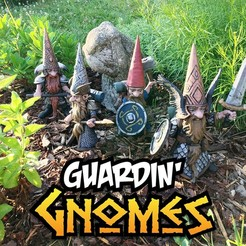 Photo Jun 15, 7 41 14 AM (1).jpg Download STL file Guardin' Gnomes • 3D printing model, Zandoria