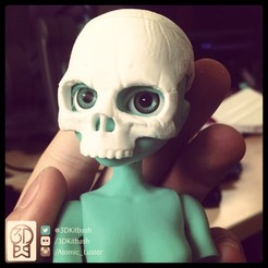 Download free 3D printer templates Quin G1: Skull Mask - 3DKitbash.com, Quincy_of_3DKitbash