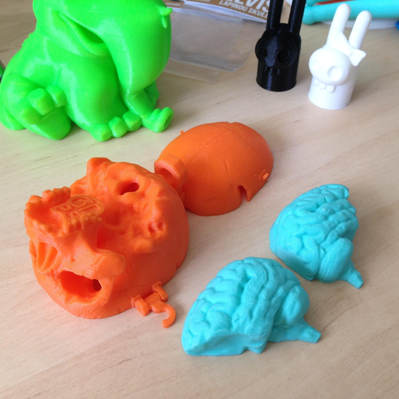 SkullBox_3DK_2.jpg Download free STL file Boneheads: Skull Box w/ Brain - via 3DKitbash.com • Model to 3D print, Quincy_of_3DKitbash