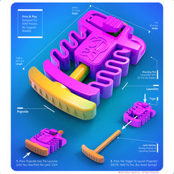 3DKitbash_Launcher_Sample.jpg Download free STL file 3DK Launcher - 3DKitbash.com - Print & Play • Design to 3D print, Quincy_of_3DKitbash