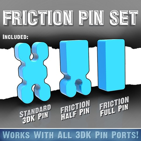 Download free STL file Friction Pin Set • Design to 3D print, Quincy_of_3DKitbash