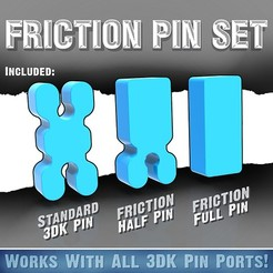 3DK_FrictionPin_1200x1200_1.jpg Download free STL file Friction Pin Set • Design to 3D print, Quincy_of_3DKitbash
