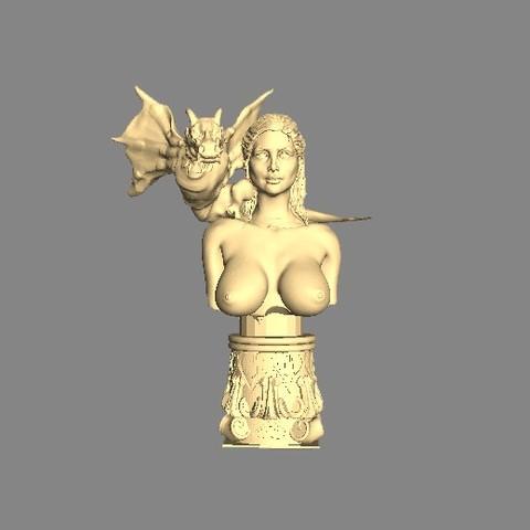 Free 3D printer model Mother of Dragons (Emilie Clarke), pooyanofsky