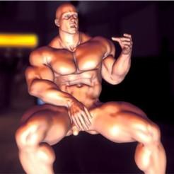 3D print model nude muscle, pooyanofsky