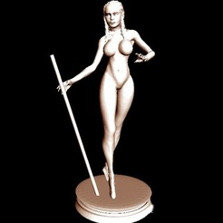 Free STL files Daenerys Targaryen naked , pooyanofsky