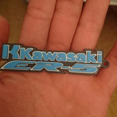 Free stl file Kawasaki key ring, Chacha62