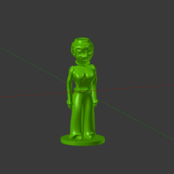 Free STL files Female Token, Jaenne
