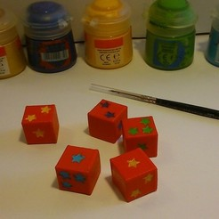 Free STL files Special starry dice, Jaenne
