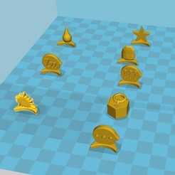 Free 3D file Various tokens, Jaenne