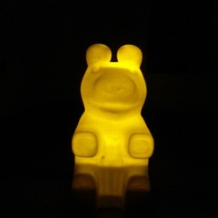 Free 3D print files Bear-shaped Night Light, Jaenne