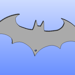 batman_cle.png Download free STL file Logo batman key holder • 3D printer template, angedemon888