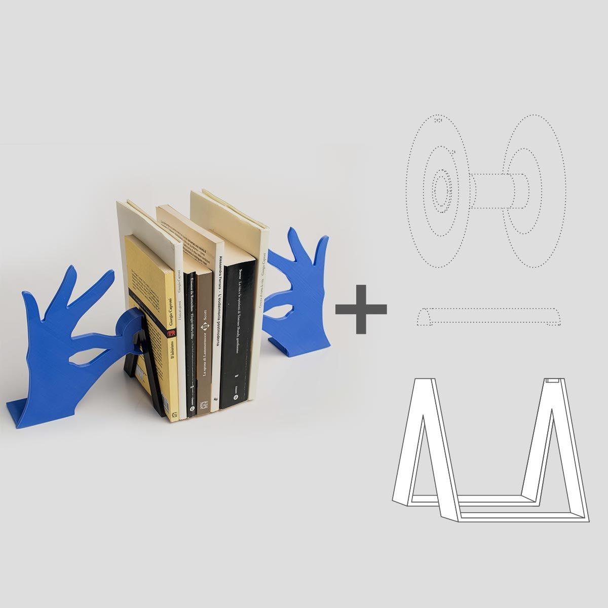 Biblio_02.jpg Download free STL file Biblio - Bookends • 3D printable model, EUMAKERS