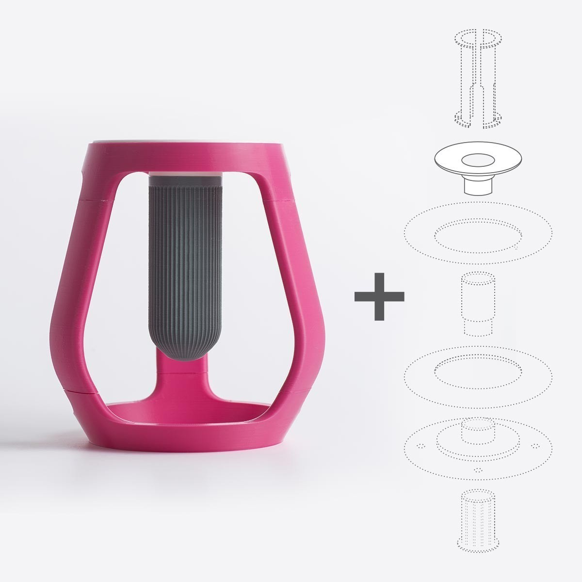 gravity_02.jpg Download free STL file Gravity - Flower vase • 3D printing object, EUMAKERS