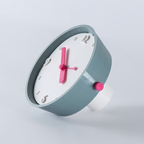 Download free 3D printer designs Time goes around - Table clock, EUMAKERS