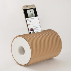 Free 3D printer designs Boombox - Smartphone Speaker, EUMAKERS
