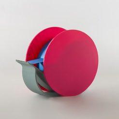 Rolly_01.jpg Download free STL file EUMAKERS' Rolly: Blue-tape for 3D printers dispenser • 3D printer model, EUMAKERS
