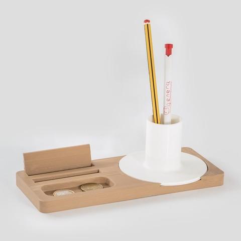 Download free STL file Combo - Desk Organiser • 3D printer design, EUMAKERS