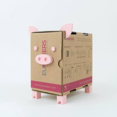 Free 3D print files Mr. Piggy - Piggy bank, EUMAKERS
