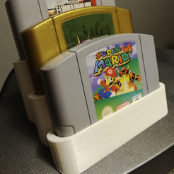 Free Game cart holder (SNES, N64, Gameboy/GBA, DS) 3D printer file, HumanStuffs