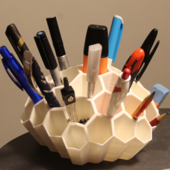 Free 3d printer files Honeycomb desk organizer, HumanStuffs