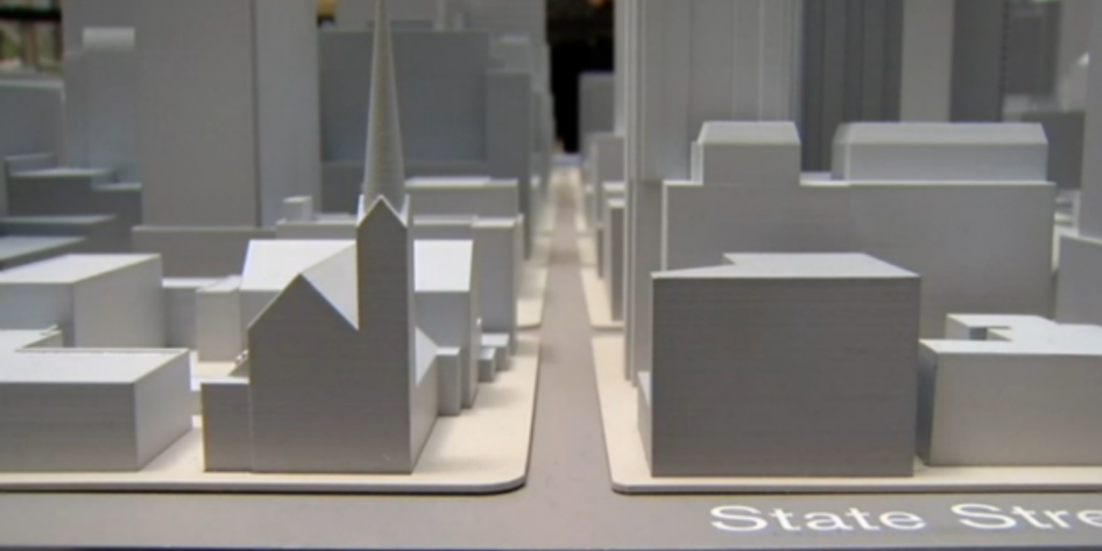 The city of Chicago restored in 3D printing