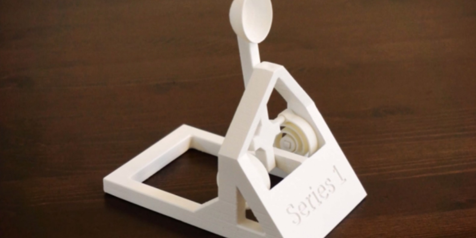 A catapult toy printed in 3D