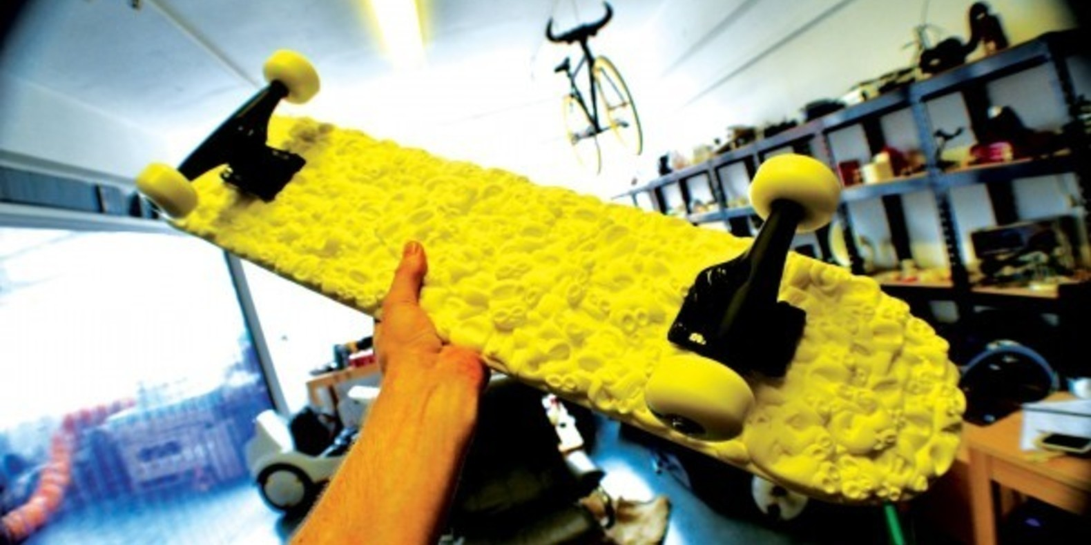The first skateboard printed in 3D