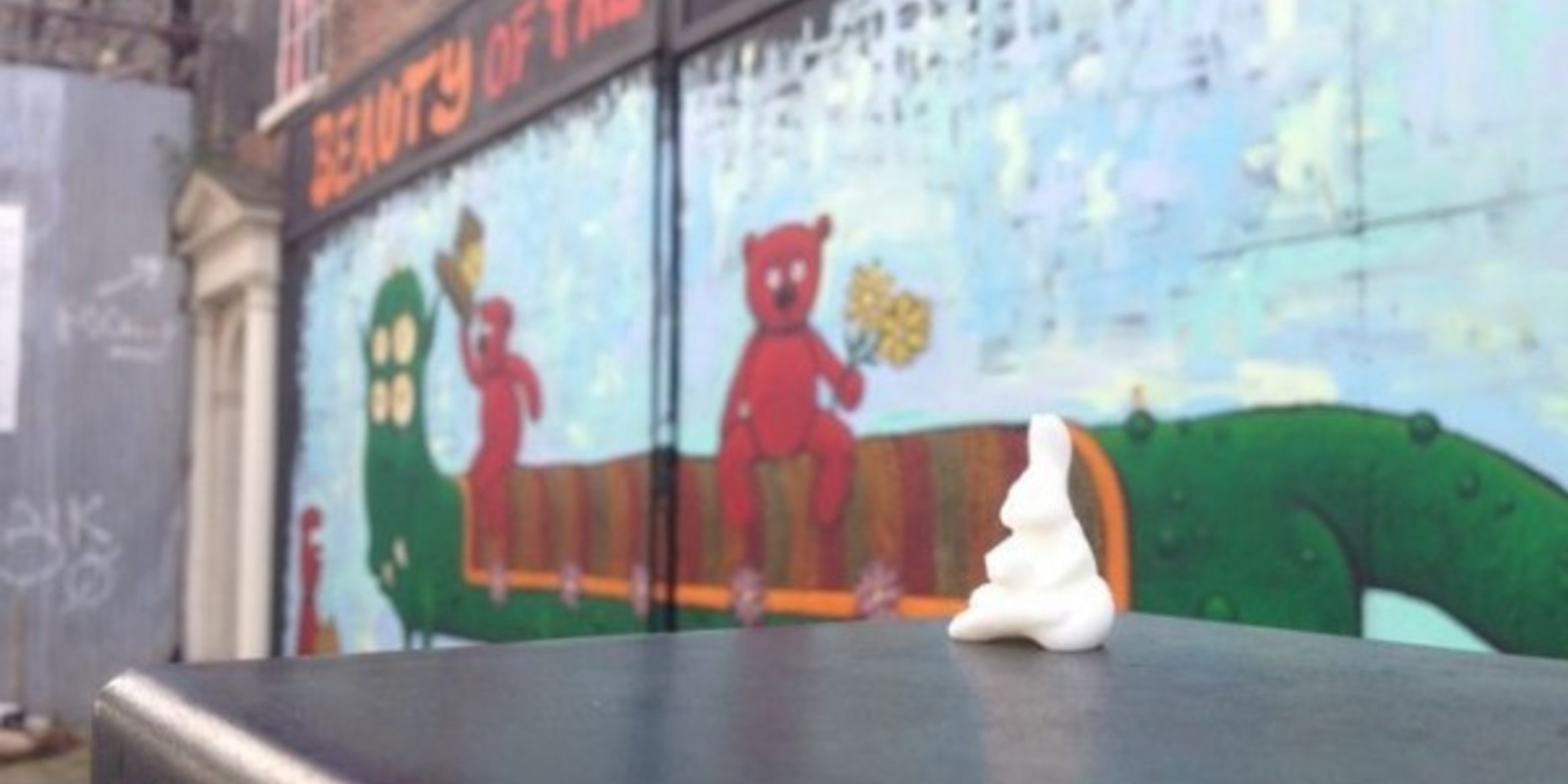 3D printed bunnies hidden in cities