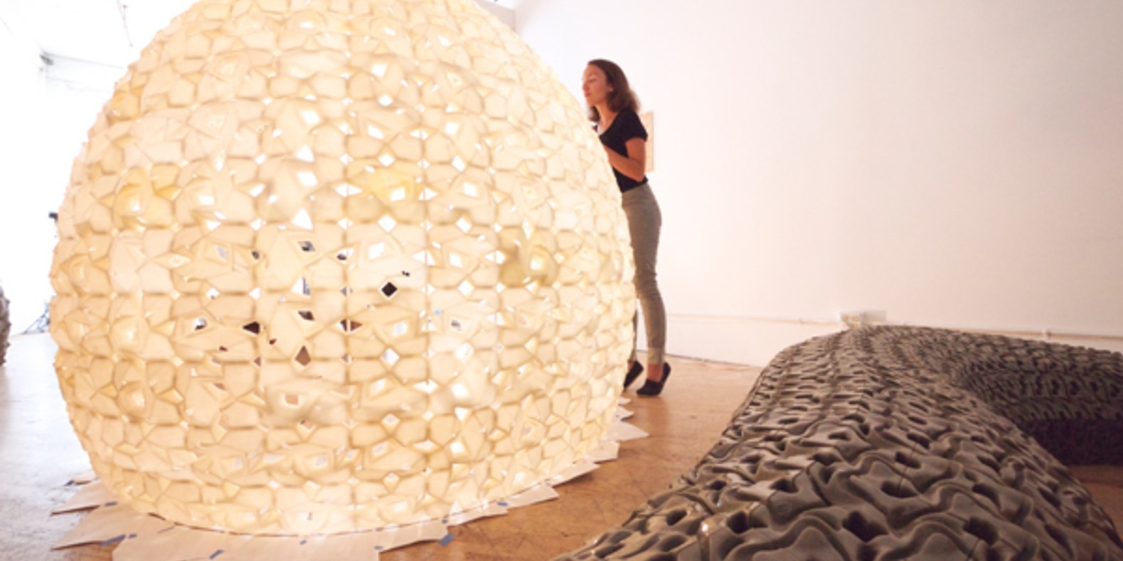 A 3D printed igloo made of salt